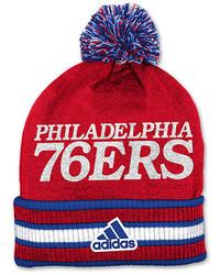 adidas Philadelphia 76ers Nba Cuffed Knit Pom Logo Hat