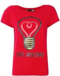 Love Moschino Logo Print Top