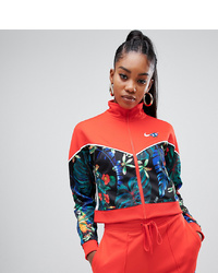 Nike Red Tropical Hyper Femme Print Tracksuit Jacket