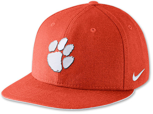 dc6d5a53149 ... Red Print Caps Nike Clemson Tigers College True Snapback Hat ...