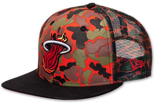 Miami Heat Nba Camo Face Snapback Hat