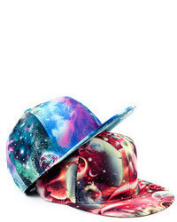 Romwe Colorful Galaxy Print Cool Baseball Cap