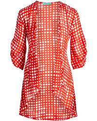 Red polka dot open cardigan medium 5422824