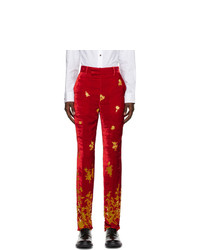 Paul Smith 50th Anniversary Red And Orange Velvet Gents Trousers