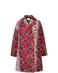 MSGM Abstract Print Midi Coat