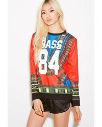 Forever 21 Bass Tribal Print Sweatshirt
