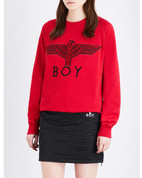 Eagle print cotton jersey sweatshirt medium 3638985
