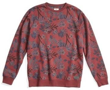 029156883c83 ... Vans Floral Print Crewneck Sweatshirt ...