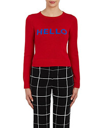 Lisa Perry Intarsia Knit Hello Goodbye Sweater