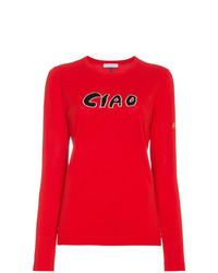 Red ciao slogan jumper medium 8308757