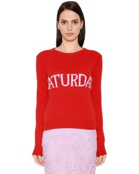 Alberta Ferretti Saturday Wool Cashmere Knit Sweater