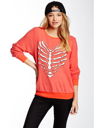 Wildfox Couture Wildfox Skeleton Heart Sweatshirt