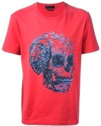 Red Print Crew-neck T-shirt