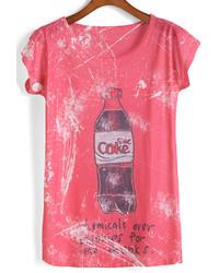 Coke Letter Print T Shirt