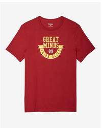 Express Great Minds Drink Alike Crew Neck Graphic Tee