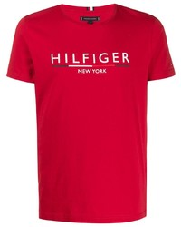 Tommy Hilfiger Logo Embroidered T Shirt