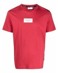 Calvin Klein Logo Print Crewneck T Shirt