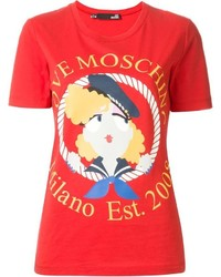 Love Moschino Sailor Girl Print T Shirt