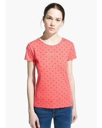Mango outlet mango outlet logo print t shirt medium 258634