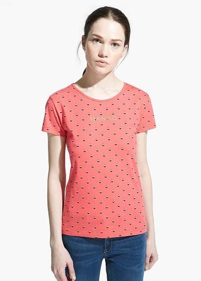 Mango Outlet Mango Outlet Logo Print T Shirt