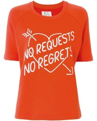 Zoe Karssen No Regrets Print T Shirt