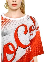 Moschino Oversized Cola Printed Cotton T Shirt