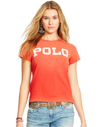 Polo Ralph Lauren Distressed Graphic T Shirt