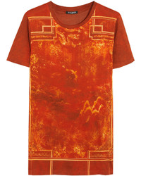 Balmain Printed Cotton T Shirt