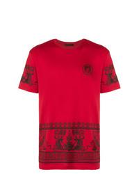 Versace Printed Medusa T Shirt