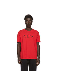 Valentino Red And Black Vltn T Shirt