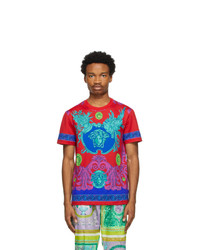Versace Red Barocco T Shirt