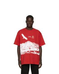 Off-White Red Eagle Landscape T Shirt