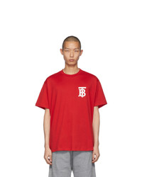 Burberry Red Emerson T Shirt