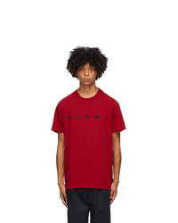 Marni Red Front Logo T Shirt