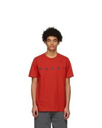 Marni Red Logo T Shirt