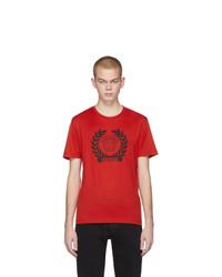 Versace Red Medusa Laurel T Shirt