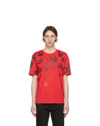 McQ Alexander McQueen Red Swallow T Shirt