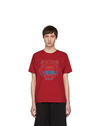 Kenzo Red Two Tone Tiger T Shirt