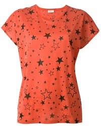 Saint Laurent Star Print T Shirt