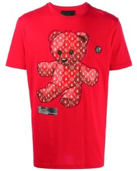 Philipp Plein Short Sleeve Teddy Bear Mascot T Shirt