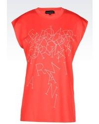 Giorgio Armani T Shirt In Printed Jersey