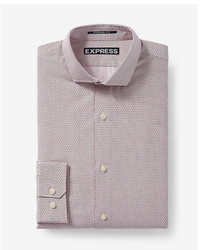 Express Modern Fit Microprint Dress Shirt