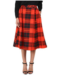 Kate Spade New York Woodland Plaid Midi Skirt