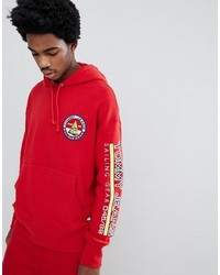 b26b1031 Tommy Jeans 90s Sailing Capsule Back And Sleeve Logo Hoodie In Red