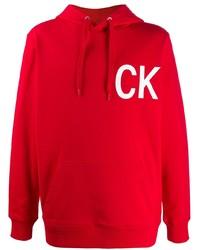 Calvin Klein Jeans Initial Logo Print Hoodie