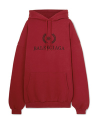 Balenciaga Oversized Printed Cotton Jersey Hoodie