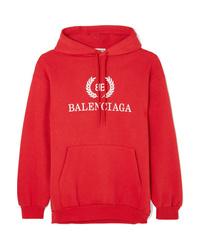Balenciaga Printed Cotton Blend Jersey Hoodie