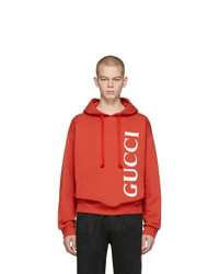 Gucci Red Logo Hoodie