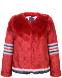 Mother Furry Number Print Jacket