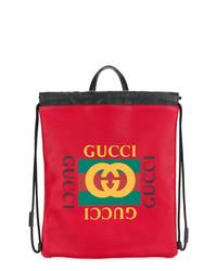 Gucci Print Drawstring Backpack